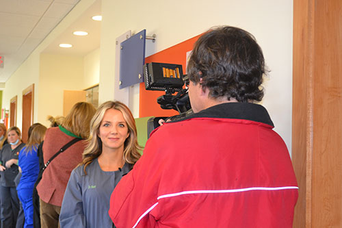 Dr. Hunt being interviewed - Pediatric Dentist in Baton Rouge, LA